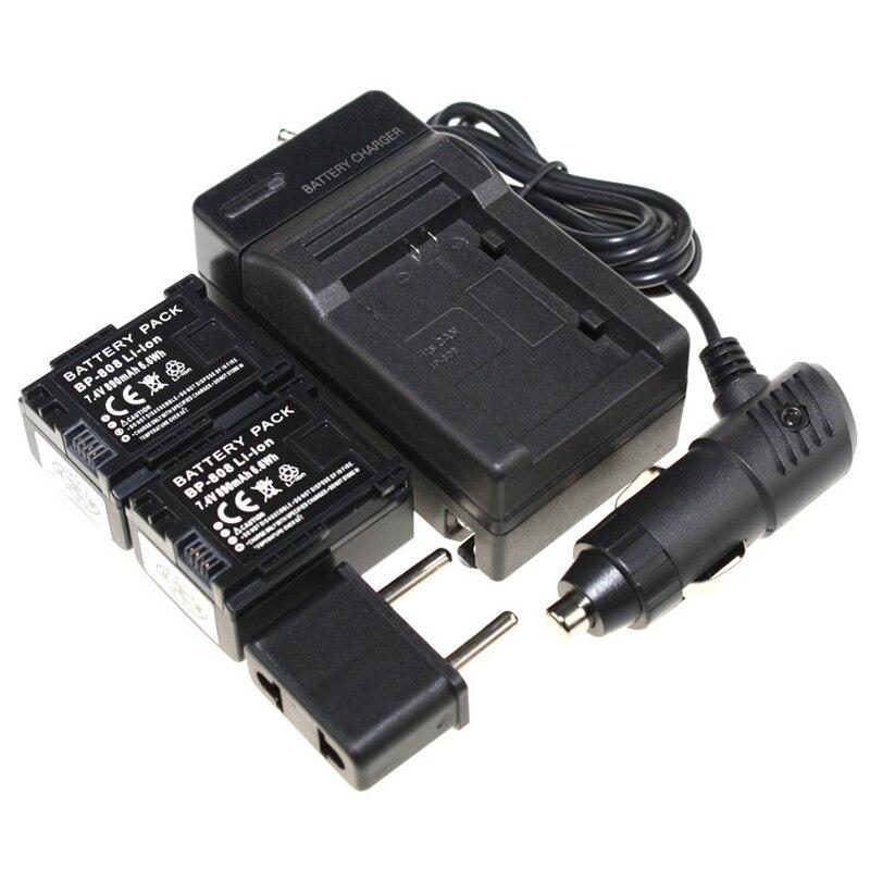 Digital Boy ( 5 Pcs/set ) 2x BP - BP 808 BP808 li - ion caméra batterie pour Canon HFS30 HFM41 HFM400 + chargeur de batterie 100% qualité
