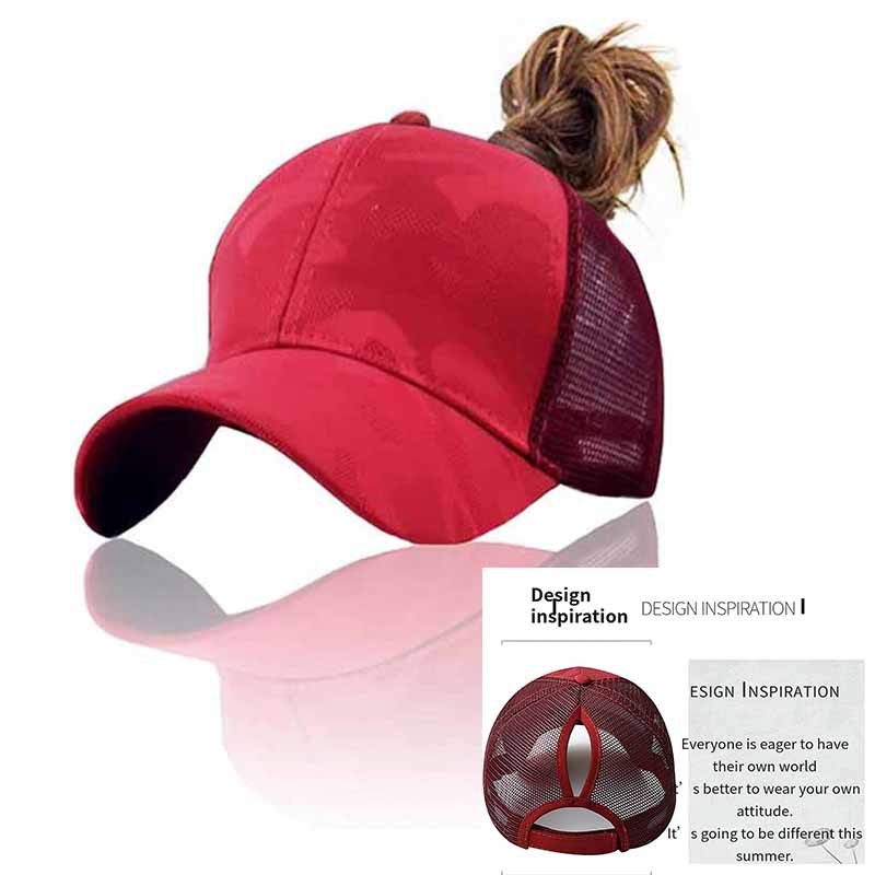 b75a345245 🛒[zq4th] Casual Ponytail Baseball Cap Women Adjustable Snapback Hat ...