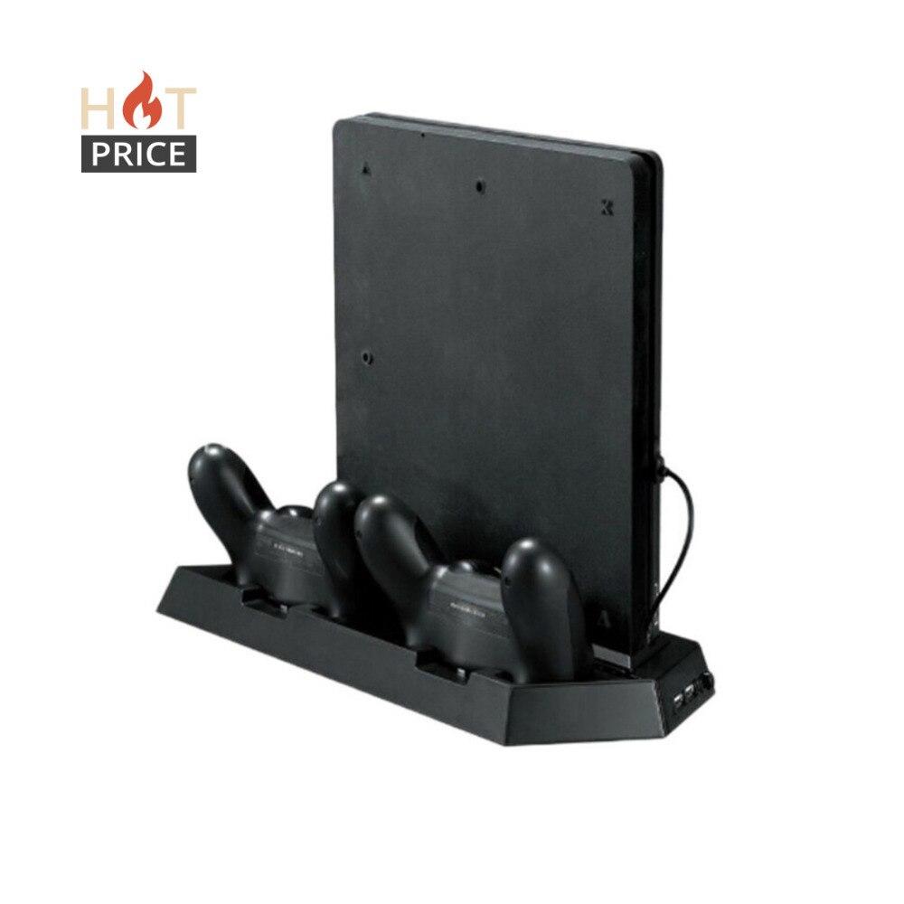 Alloyseed Spiel Konsole Ständer Für PS4 Slim Konsole Vertikale Spiel Konsole Ständer Dock Mit Dual Ladestation Hohe Qualität