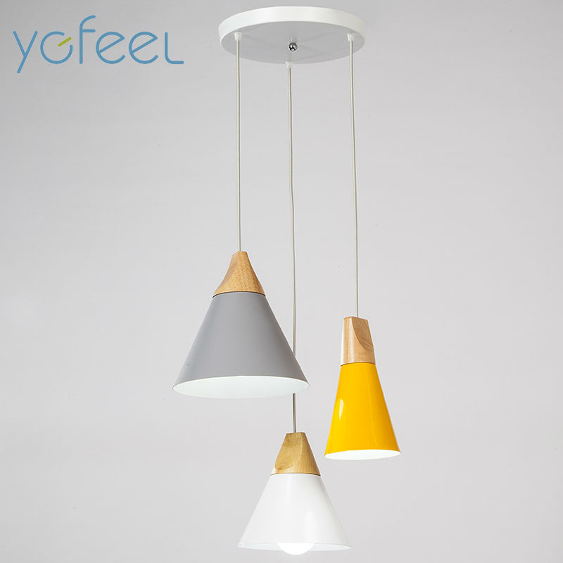 YGFEEL Modern Diving Room Pendant Light 3 Heads Round Rectangle Ceiling Plate Indoor Living Room