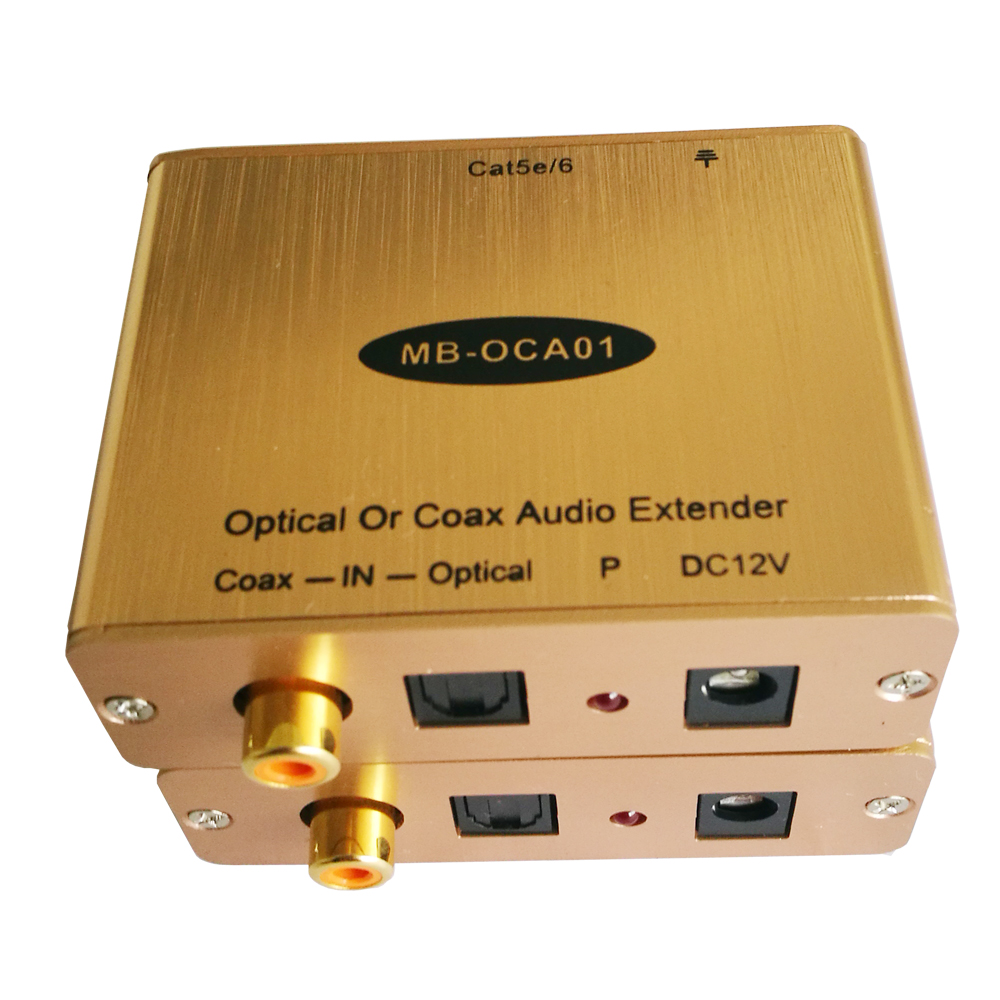Digital Audio Extender S/PDIF or TOSLink Digital Audio Sender With Receiver ToslinK Audio Transceiver Over Cat5/6 Cable digital audio toslink digital coax hdmi audio embedded