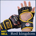 One pair Training Half-finger Gants Dragon Boxing Gloves Sanda Muay Thai MMA Gloves Mittens Mitts Sport Accessories