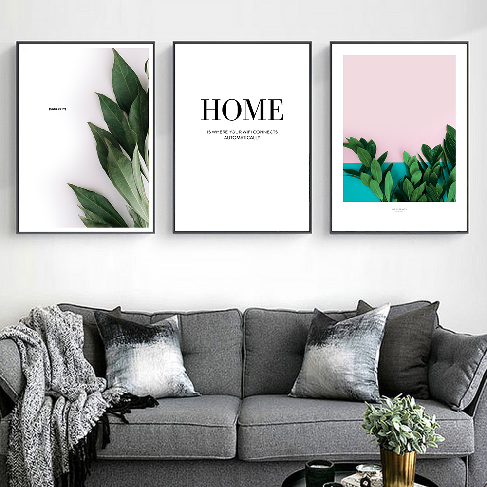 Leaf Pineapple Poster Wall Art Canvas Print Home Quotes Nordic Painting Decorative Picture Modern Living Room Decoration in Painting Calligraphy from Home Garden