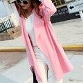 Женщины Траншею Моды 2017 Осень Зима Розовый Хаки Длинное Пальто женщины Пальто Случайного Тонкий Длинное Пальто И Пиджаки Плюс Размер М-5XL траншеи