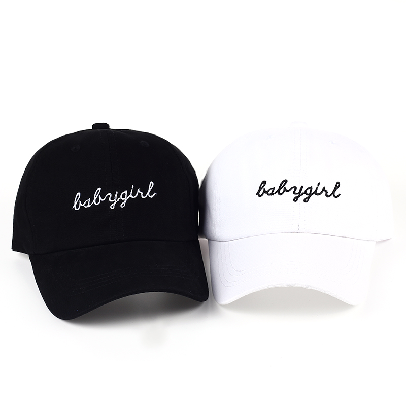 7f4735e6ec9 VORON babygril Embroidered Cotton Baseball Cap Hats Black White Curved Bill  Snapback Hats Hip Hop Dad Caps Summer Gorras