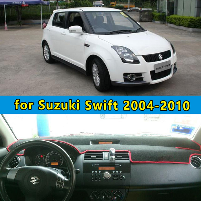car dashmats car styling accessories dashboard cover for Maruti Suzuki  Swift Sport 2004 2005 2006 2007 2008 2009 2010 -in Automobiles Seat Covers  from