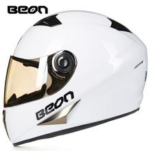 BEON Vier Seans Vollgesichts Klassische Motorrad Go kart helm MTB ATV Motorrad kopfbedeckungen casque casco capacete