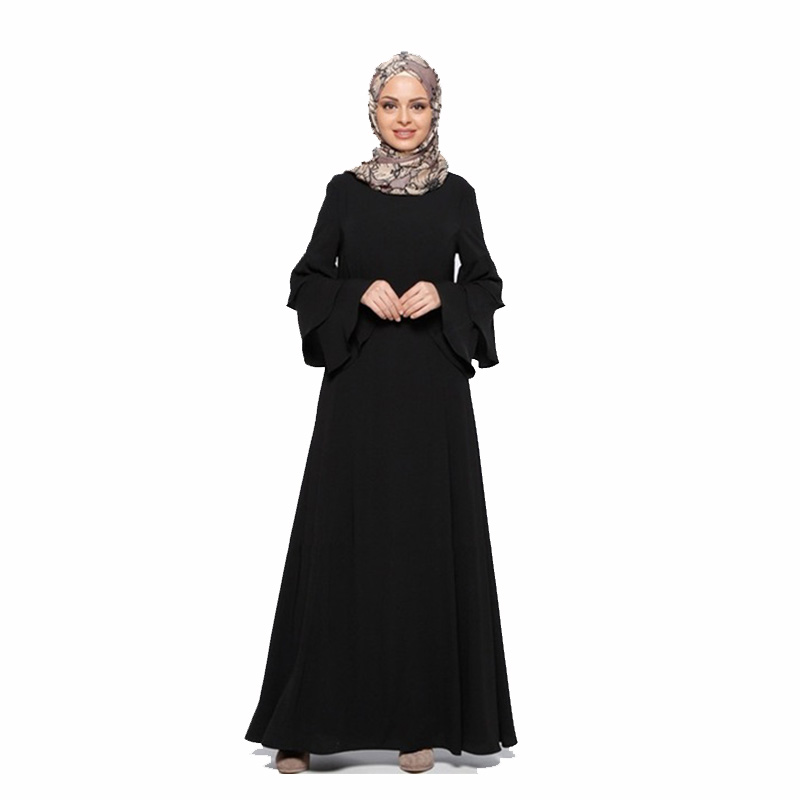 Fashion Muslim dress long sleeve women robe loose skirt Arabic dubai abaya dress Ready stock Turkish islamic clothing B8068