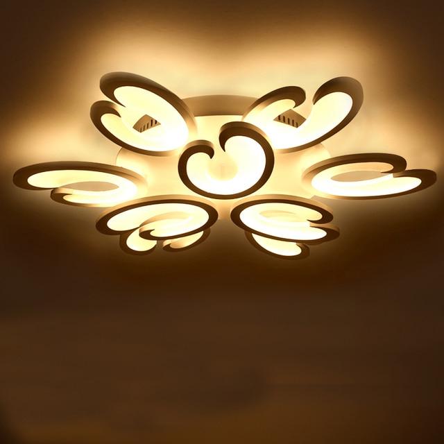 Korte woonkamer plafond lampen led slaapkamer acryl moderne lamp ...