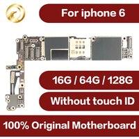 Orijinal iphone 6 16GB 64gb 128gb unlocked dünya çapında anakart için iphone 6 IOS sistemi dokunmatik kimlik anakart
