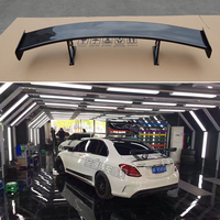 C CLass W205 C63 AMG carbon fiber black series trunk spoiler rear wing fit for Mercedes Benz AMG C63 2015 2018 GT Style