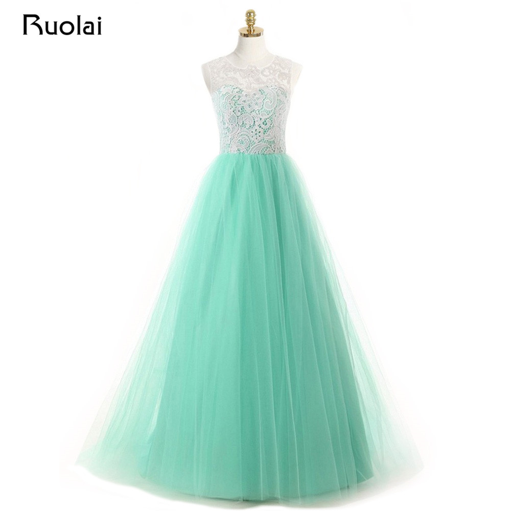 Vintage Mint   Bridesmaid     Dresses   Long Robe Demoiselle d'honneur A Line Top Lace   Bridesmaid     Dresses   Party   Dress   for Wedding BM31