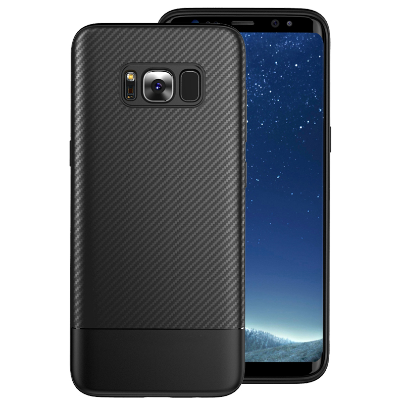 Samsung Galaxy S8 Plus Carbon Fiber Texture Soft TPU Silicon Protection Samsung Galaxy S8plus Cover