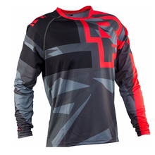Wholesale MOTO New Mountain downhill Bike long sleeve  DH MX RBX MTB racing clothes Off-road Motocross Jersey 2017 mountain downhill bike dh mx rbx mtb racing clothes off road motocross jersey for men long sleeve cycling jersey