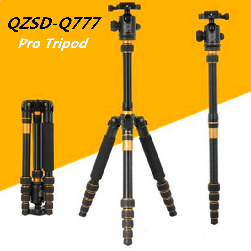 QZSD Q777 Portable Tripod Monopod  SLR Camera Tripod With Ball Head High Quality Traveling Tripod free shipping qzsd q472 slr camera tripod monopod