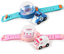 Remote control car watch children's mini cartoon watch remote control car with gravity induction car(China)