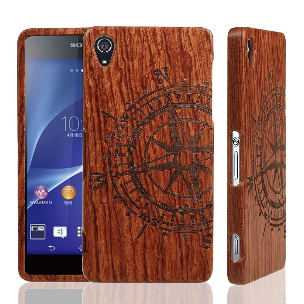 100 Natural Wood Case for SONY Xperia Z Series Z5 Z4 Z3 Z2 Z1 M5 Real