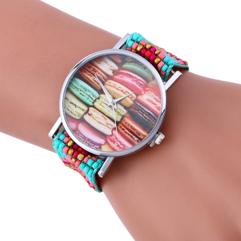 montre femme Vogue Leisure Weaving watches Bracelet Lady Womans Analog Quartz Gifts my31