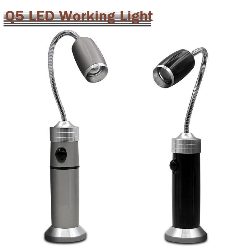 DIYUN CREE Q5 LED Flashlight Torch Maintenance Work Lamp / Magnet Work Examining Light / Working & Reading Light + 18650+charger