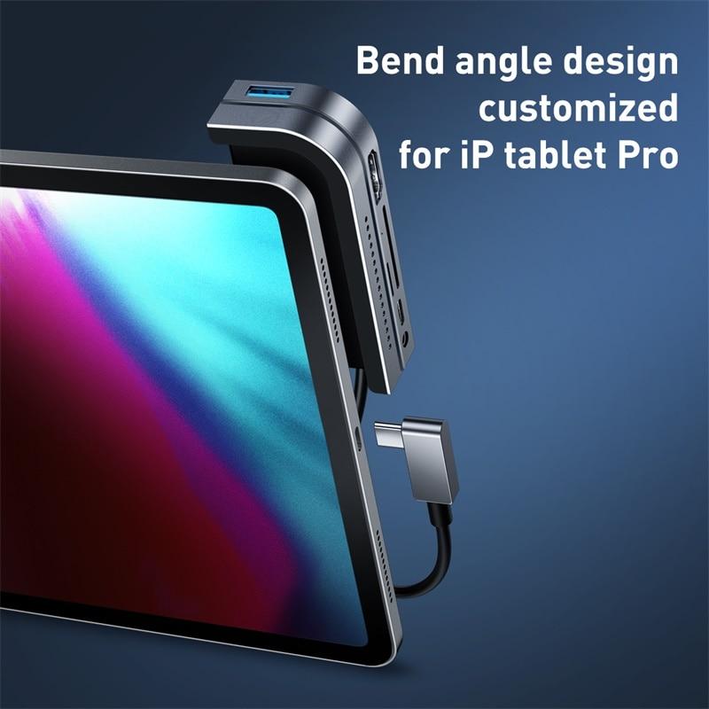 Moyeu multi-USB C Baseus vers HDMI USB 3.0 moyeu de Type C pour iPad Pro USB-C à plusieurs ports adaptateur de moyeu USB type-c pour MacBook Pro Air - 3