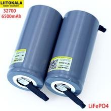 Liitokala 3.2v 32700 6500mah LiFePO4バッテリー35A連続放電最大55Aハイパワーバッテリー + diyニッケルシート