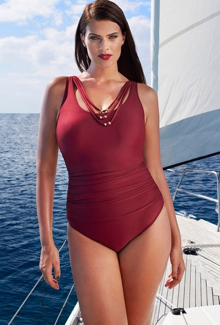 cccf8e0495f22 2017 New One Piece Swimsuit Brazilian Bikini Set Sexy Beachwear Plus Size  Swimwear Women Bikinis Red