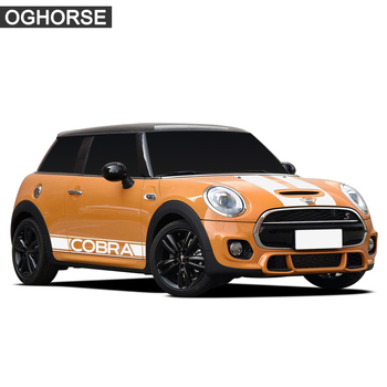 Strisce Mini Cooper | Auto Hood Cofano Posteriore Del Tetto Del Tronco Laterale Gonna Sticker Racing Stripes Corpo Decalcomania Per Mini Cooper Cobra R R50 R53 R56 F56 Accessori