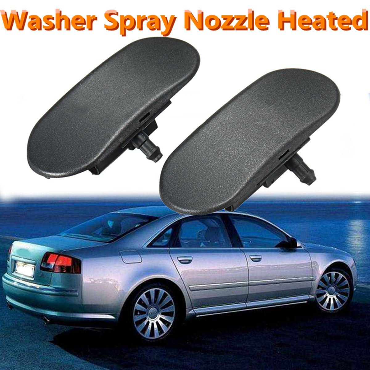 2Pcs Car Front Windshield Washer Spray Nozzle Heated For Audi A6 S6 Quattro  A4 A3 A8 4F0955987A 4F0955988A-in Windscreen Wipers from Automobiles ...