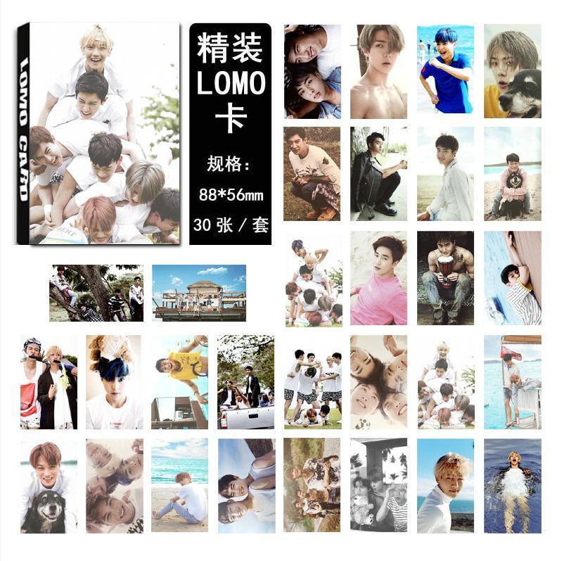 Kpop Popular Star EXO Album PLANET # 2 Lyrics 30 Pcs Postcard Lyric K-pop Do Photos LOMO Card Book Gift Souvenir Sticker Poster