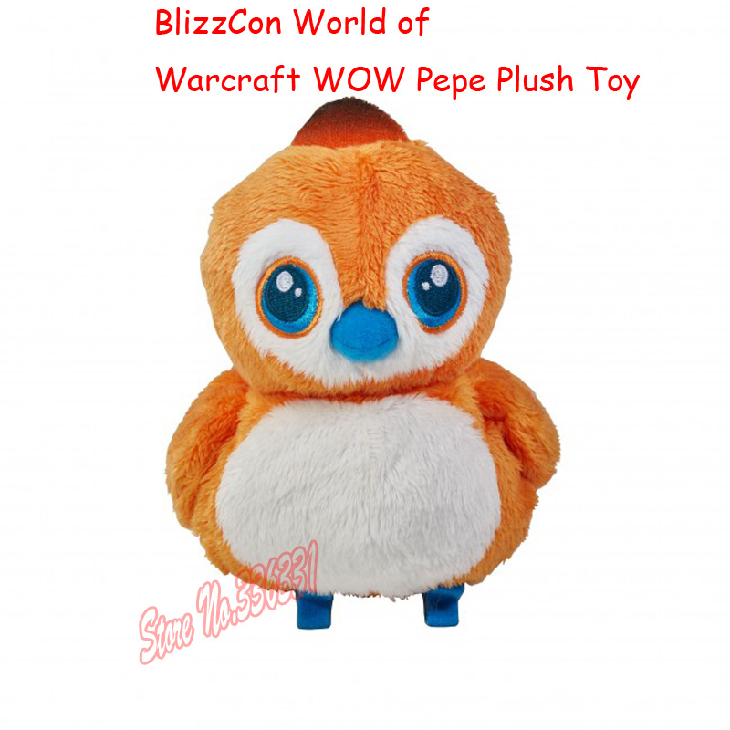 Hot Sell 2016 New 16cm BlizzCon World Of WOW Pepe Plush Toy Doll League Baby Gift Free Shipping