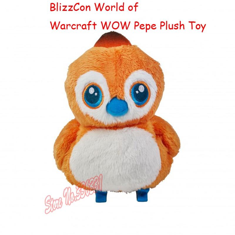 Hot Sälj 2016 Ny 16cm BlizzCon World Of WOW Pepe Plysch Toy Doll League Baby Gåva Gratis frakt