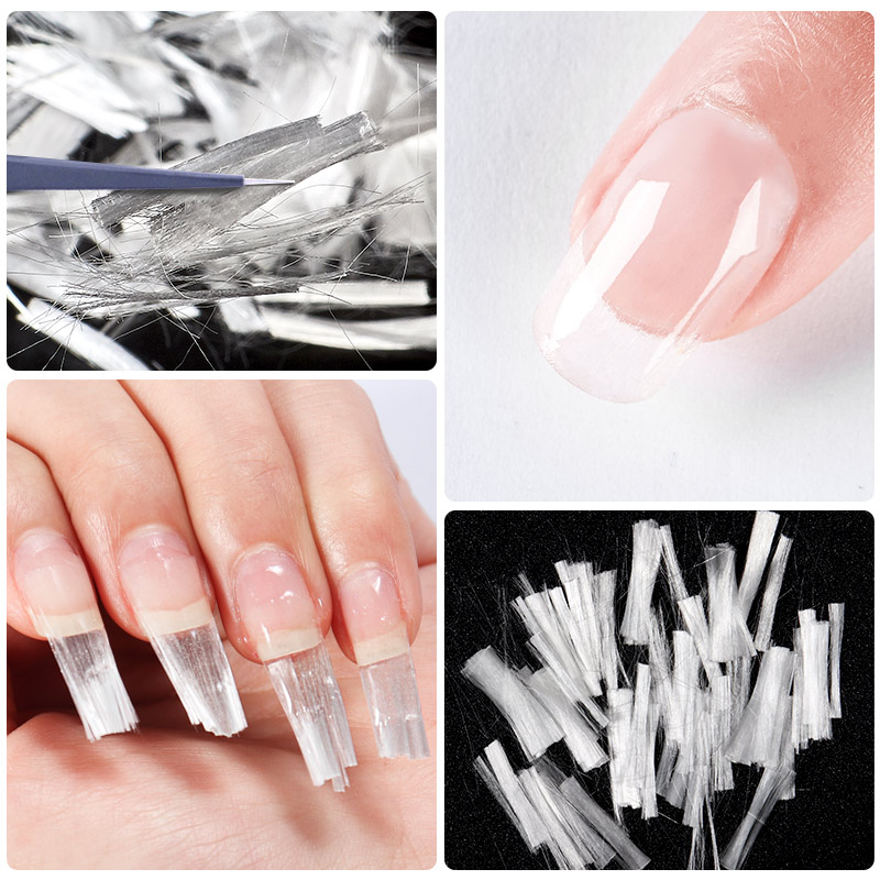 MEET ACROSS Quick Extension Gel Pink Acrylic Poly UV Gel Manicure Soak Off Crystal Jelly With Fiberglass Extension Tool in Nail Gel from Beauty Health