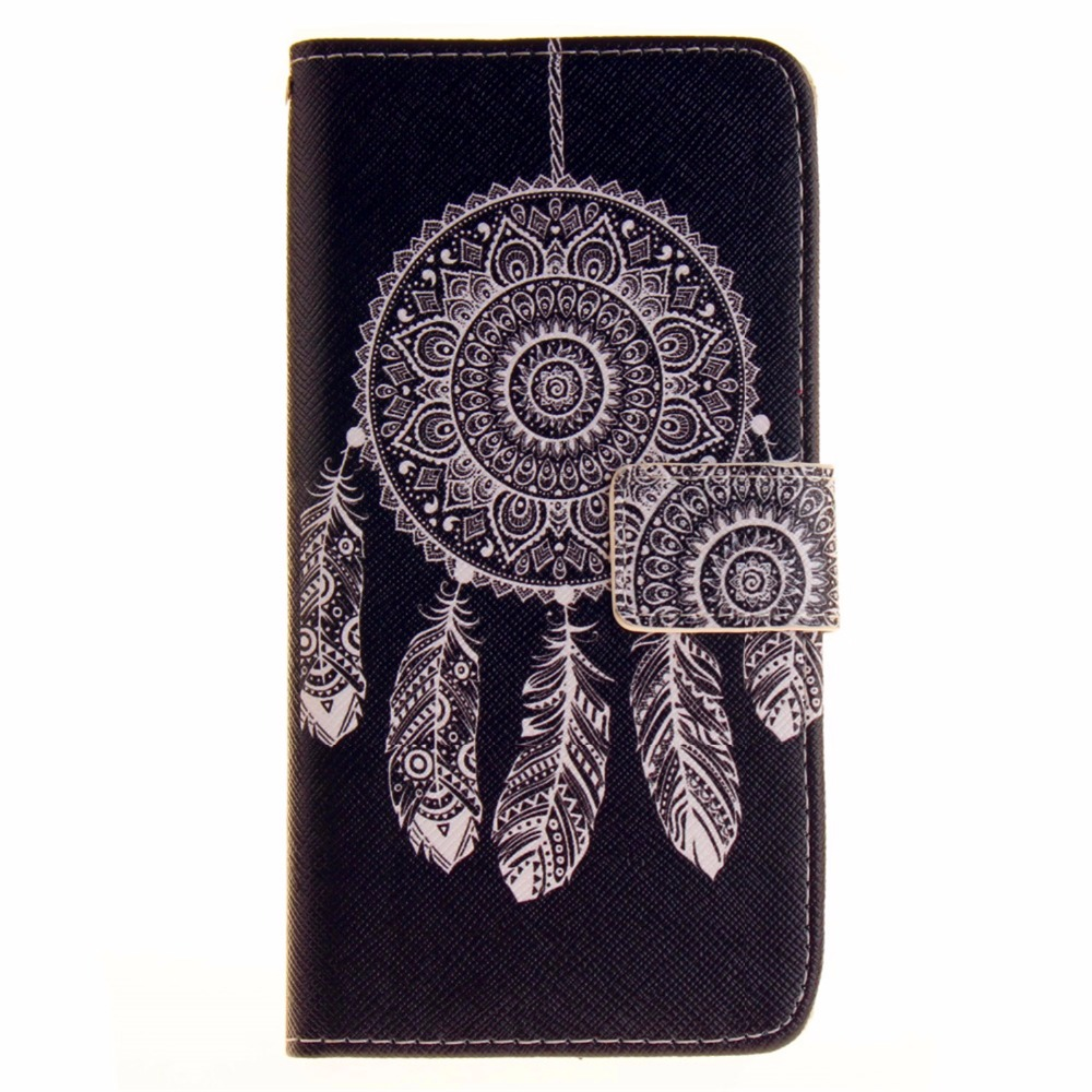 For iPhone 7 8 plus The color of painting For Apple iPhone 7 8 Luxury Wallet Leather Case Stand Flip Card Hold Phone Cover Bags