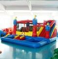 Jumper de castelo Kindergarten UL Reino Castelo Moonwalk Com Piscina de Casa do Salto Inflável para a venda