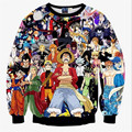 New 2016 fall men/women sweatshirts 3D graphic sweatshirt print anime One Piece pullover hoodie autumn tops clothes