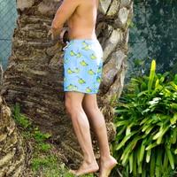 2019 New arrive men beachwear 2 colors blue banana prints sunga water sports surf liner mesh swimming trunk for men swimsuits