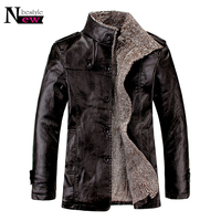 Winter Men Casual Faux Leather Jackets Thermal Overcoat Male Warm Fur Leather Jackets Homie Thickening Brand Bomber Jacket Coats