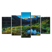 Framed 5 Panel Landscape series Wall Art Oil Painting On Canvas Printed Pictures Decor painting large living room
