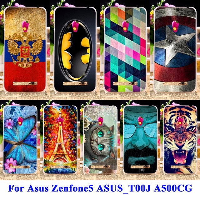 AKABEILA Soft TPU & Hard PC Cell Phone s For Asus Zenfone5 Cases zenfone 5 ASUS_T00J A501CG A500CG Covers Captain American Shell