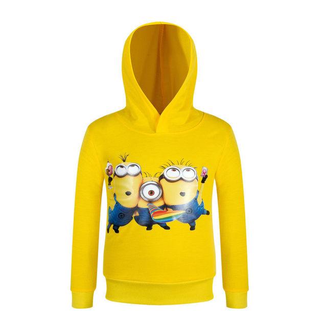 2016 Otoño Algodón Ployester 3-10Y Niños Hoodies de La Manga Completa Pullovers Chaqueta Ropa Minions Suéter Bboy/Chica AH-1608-4