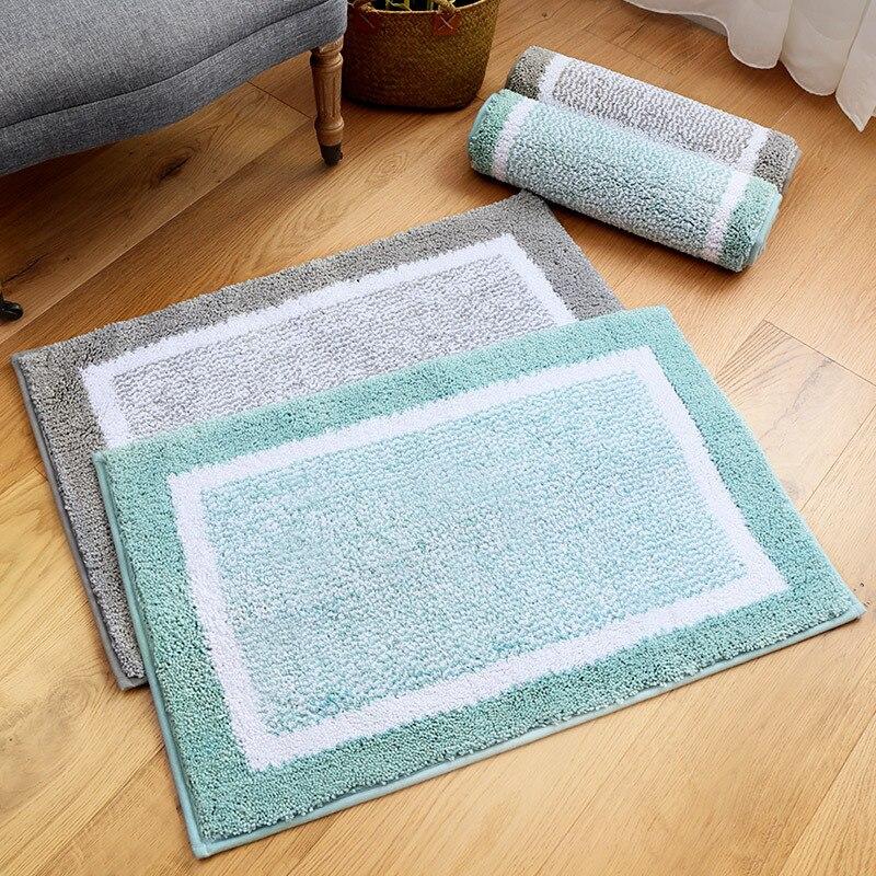 MDCT Home Decorative Shaggy Area Rug Living Room Bedroom Floormats Doormat Slip Resistance Absorbent Bathroom Toilet Floor Mats