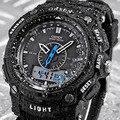 Militar Do Exército Dos Homens relógios de Pulso À Prova D' Água 3ATM Relógio do Silicone LCD Digital Alarm Data de Luxo Relógio Masculino Horas Relogios Masculino