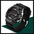 Sanda Top Da Marca Dos Homens de Choque Relógios Desportivos Relogio masculino Digital Led Esporte Relógios De Pulso 30 m Resistente À Água Para Homens Relógios