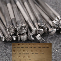 DIY Alloy Leather Tools 20pcs LOT Leather Working Saddle Making Tools Set Carving Leather Craft Stamps