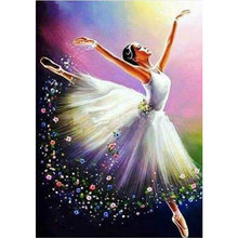 New Full Square 5D Diy Diamond Painting Crystal girl dancer Diamond Embroidery Sale Cross Stitch Rhinestone Diamond Mosaic FG950(China)