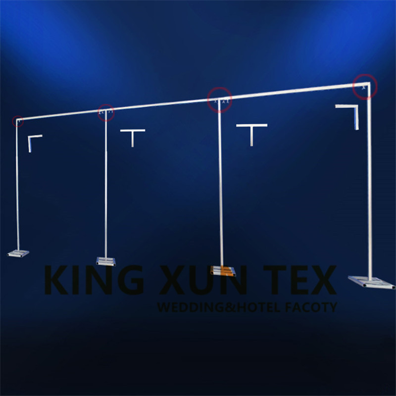 4M x 8M Wedding Backdrop Pipe Backdrop Stand Rod Frame Stent For Background Curtains