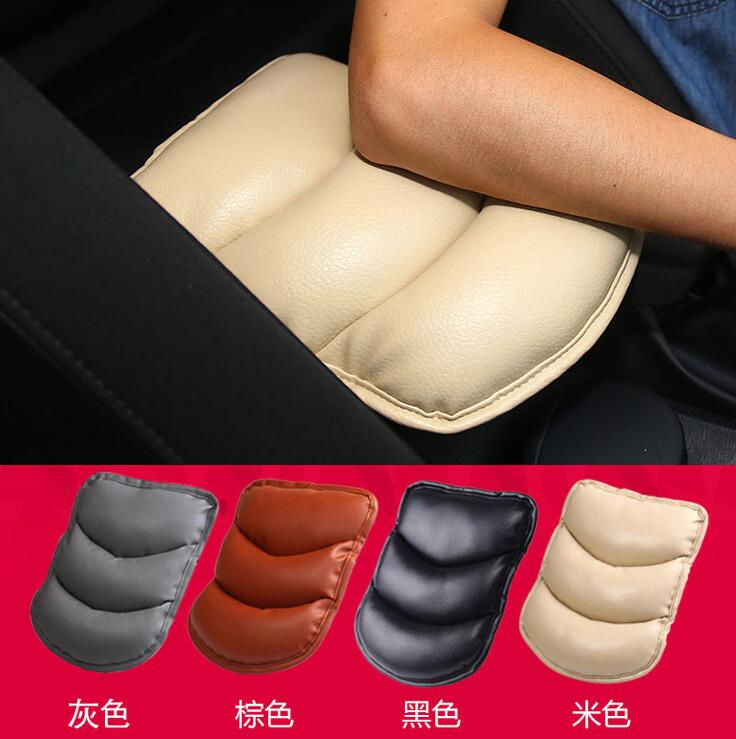 Car Armrests Cover Arm Rest Seat Box Pad Protective Case Soft PU Mats For Toyota Yaris Camry Corolla Highlander Avensis Rav4
