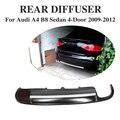 ПУ черный задний бампер диффузор защита для губ для Audi A4 B8 седан 4-дверь 2009-2012 один выхлопной два выхода