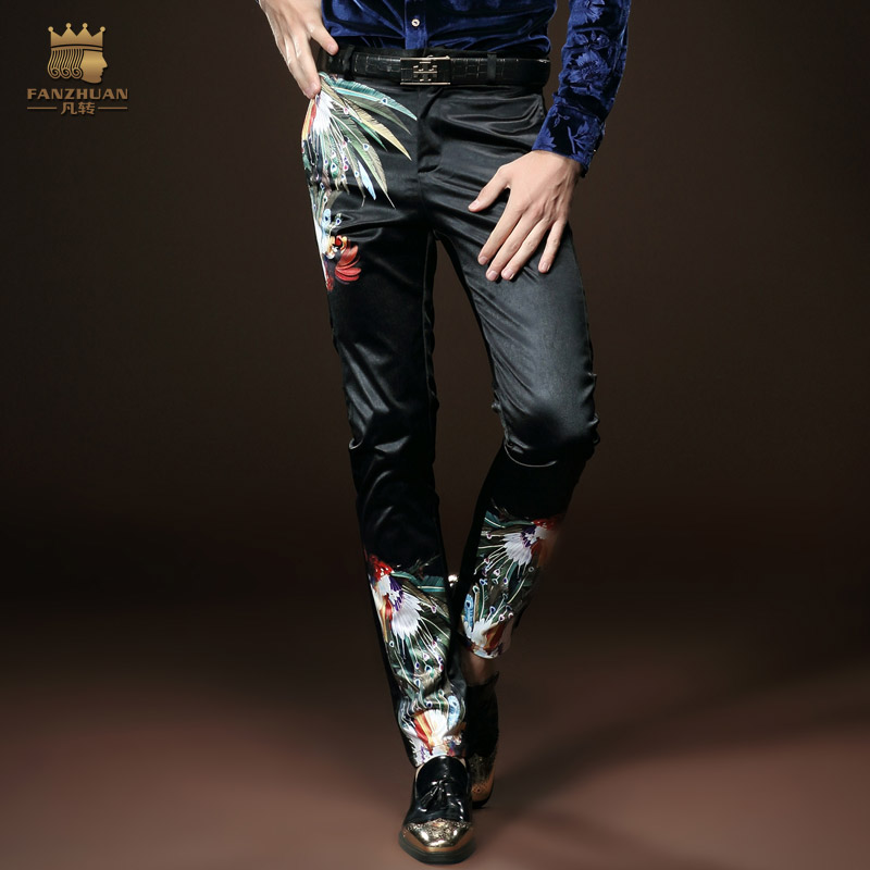 Fanzhuan Free Shipping New Fashion Male Trousers Men's Casual Slim Spring Black Slim Personality 518030 In Stock Pencil Pants