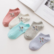 New autumn and winter simple cartoon owl cotton women ship socks Comfortable comfortable female